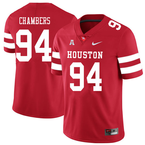 2018 Men #94 Isaiah Chambers Houston Cougars College Football Jerseys Sale-Red