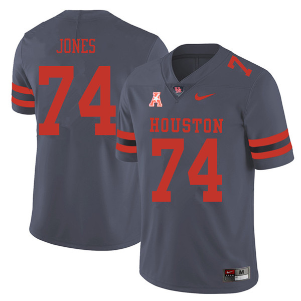 2018 Men #74 Josh Jones Houston Cougars College Football Jerseys Sale-Gray