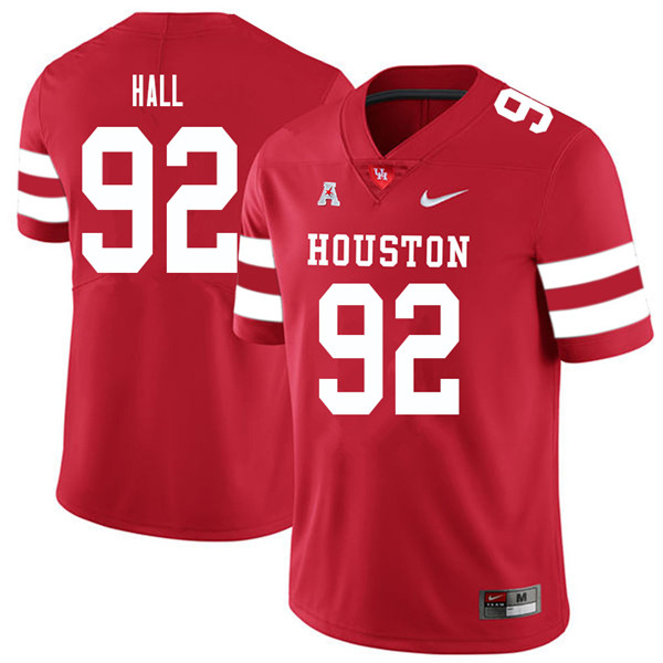 2018 Men #92 Logan Hall Houston Cougars College Football Jerseys Sale-Red