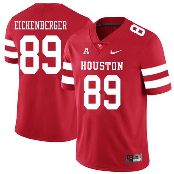 2018 Men #89 Parker Eichenberger Houston Cougars College Football Jerseys Sale-Red