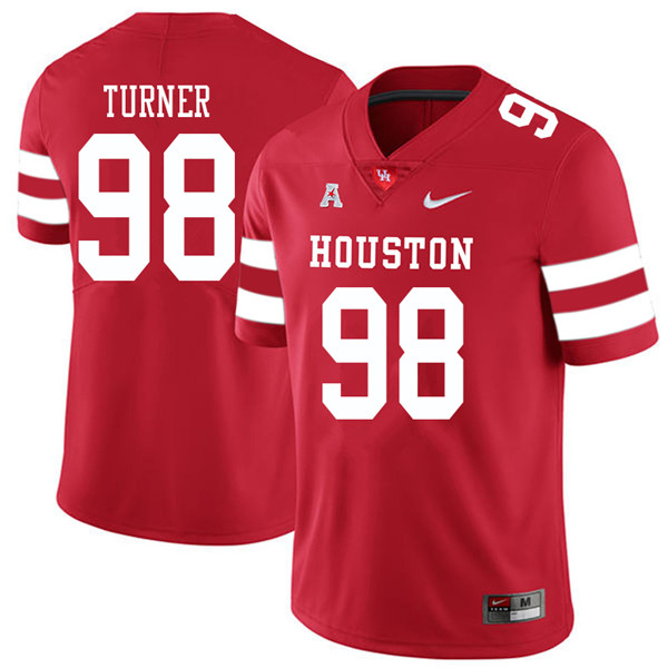 2018 Men #98 Payton Turner Houston Cougars College Football Jerseys Sale-Red