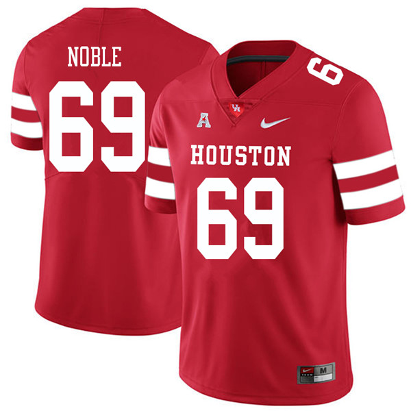 2018 Men #69 Will Noble Houston Cougars College Football Jerseys Sale-Red