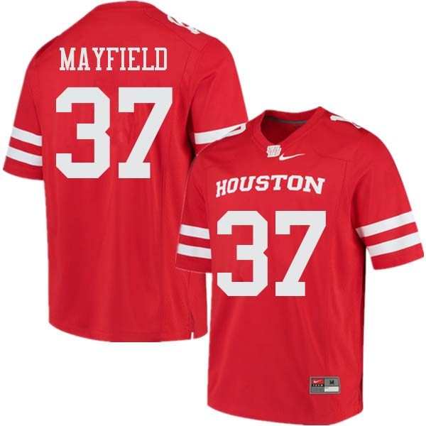 Men #37 Caemen Mayfield Houston Cougars College Football Jerseys Sale-Red