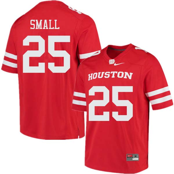 Men #25 D.J. Small Houston Cougars College Football Jerseys Sale-Red