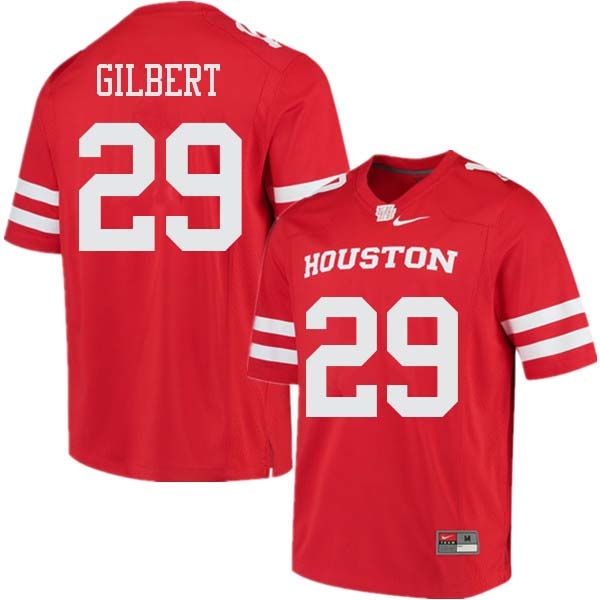 Men #29 Darius Gilbert Houston Cougars College Football Jerseys Sale-Red