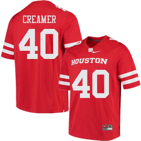 Men #40 Shane Creamer Houston Cougars College Football Jerseys Sale-Red