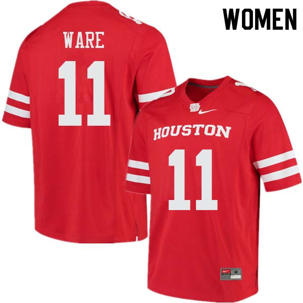 Women #11 Andre Ware Houston Cougars College Football Jerseys Sale-Red