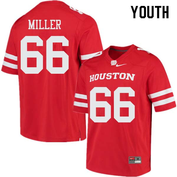 Youth #66 Cole Miller Houston Cougars College Football Jerseys Sale-Red