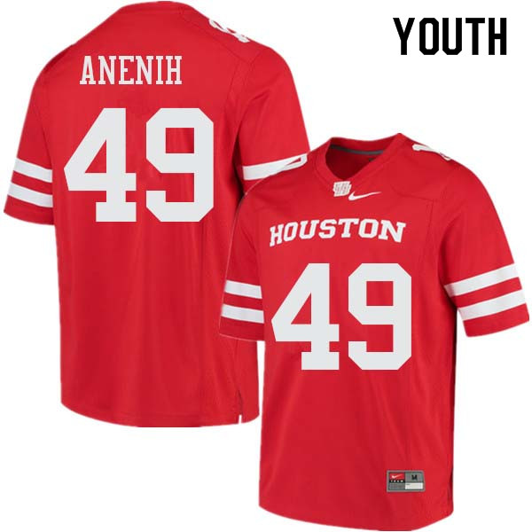 Youth #49 David Anenih Houston Cougars College Football Jerseys Sale-Red