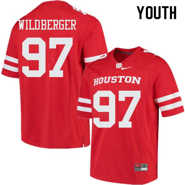 Youth #97 Nick Wildberger Houston Cougars College Football Jerseys Sale-Red